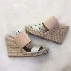 NEW Dolce Vita Nude White Neutral Wedges | 11